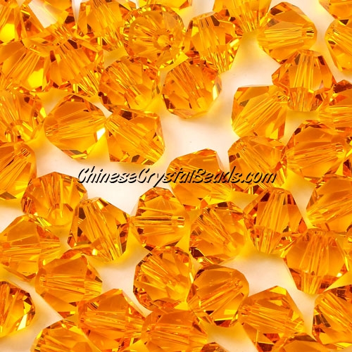 Chinese Crystal 8mm Bicone Beads, sun, #822, AAA quality, 10 beads