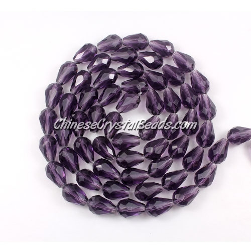 25Pcs 8x12mm Chinese Crystal Teardrop Beads, violet
