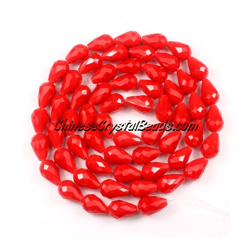 25Pcs 8x12mm Chinese Crystal Teardrop Beads, red velvet
