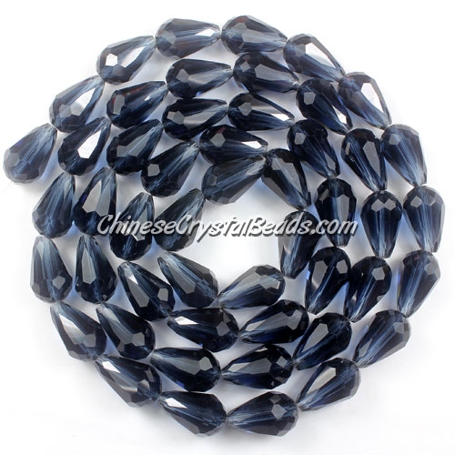 25Pcs 10x15mm Chinese Crystal Teardrop Beads, Magic Blue
