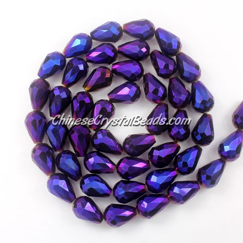 20Pcs 10x15mm Chinese Crystal Teardrop Beads, purple lightt