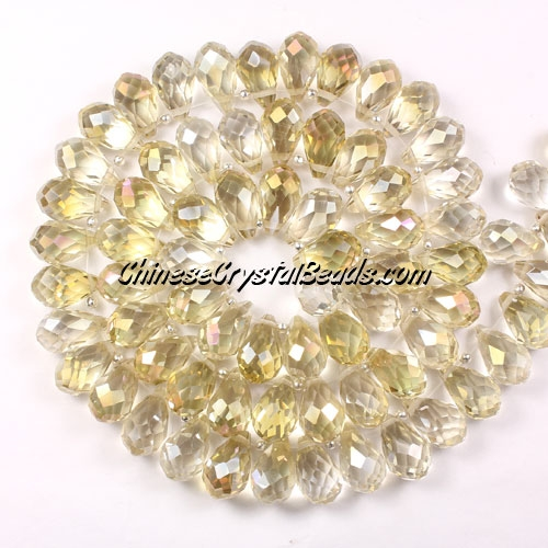 (NEW) Crystal Briolette Bead Strand, new color (4), 8x13mm, 98 beads