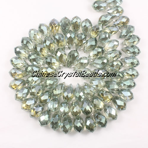 (NEW) Crystal Briolette Bead Strand, new color (6), 8x13mm, 98 beads