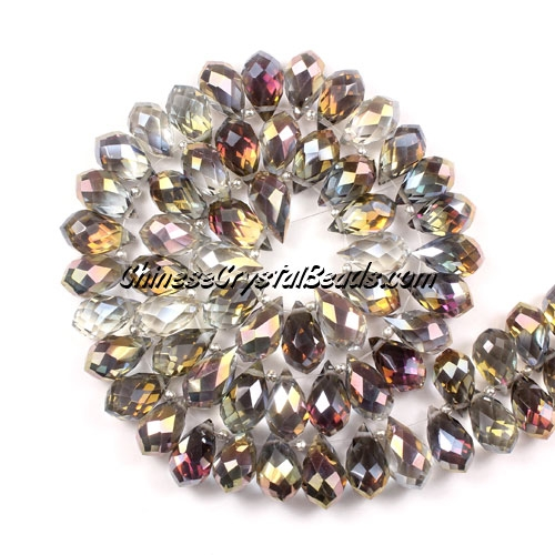 (NEW) Crystal Briolette Bead Strand, new color (7), 8x13mm, 98 beads