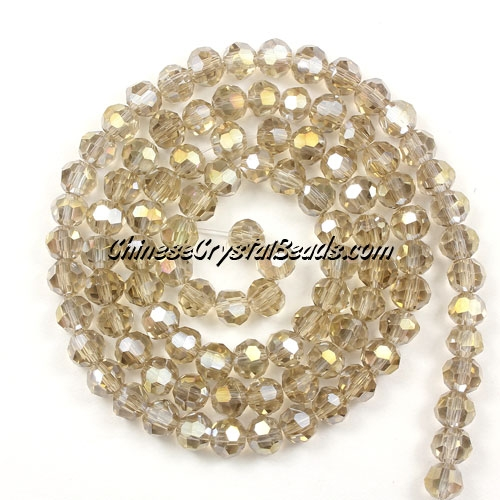 Chinese Crystal 4mm Round Bead Strand, Silver champpagne AB,about 100 beads