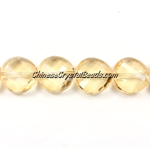 Chinese Crystal Twist Bead, 18mm, G. champagne, 10 beads