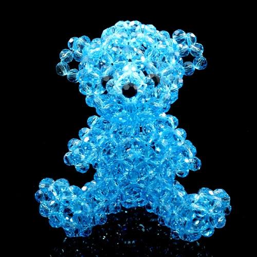 3d beading beaded teddy 60mm aqua