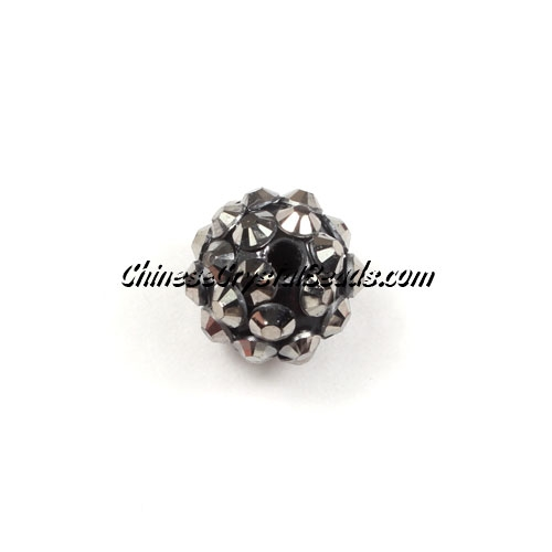 Chinese Crystal Disco Bead Acrylic silver 10mm(inside), 25 beads