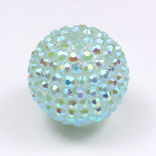 Acrylic Disco Bead Light Aqua AB 26mm