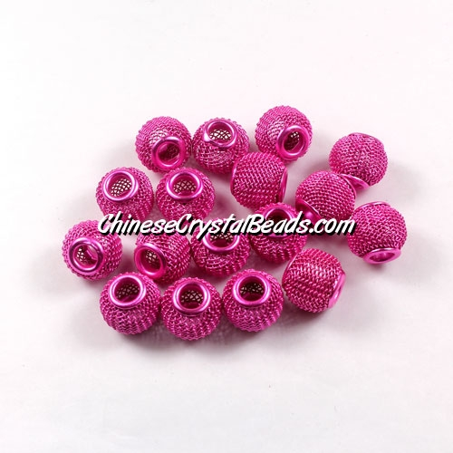 fuchisa Mesh Bead, Basketball Wives, 12mm, 10 pieces