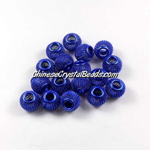 Sapphire Mesh Bead, Basketball Wives, 12mm, 10 pieces
