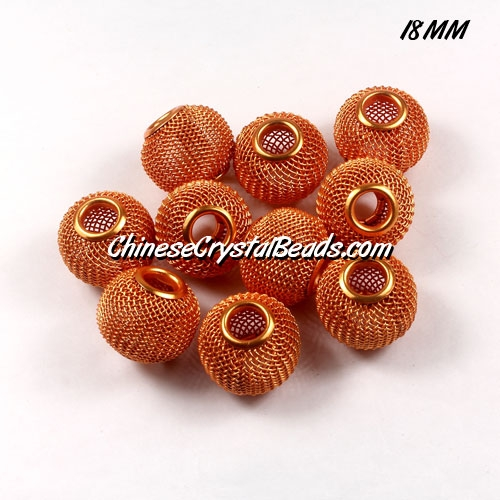 18mm SUN Mesh Bead, Basketball Wives, 12 pieces