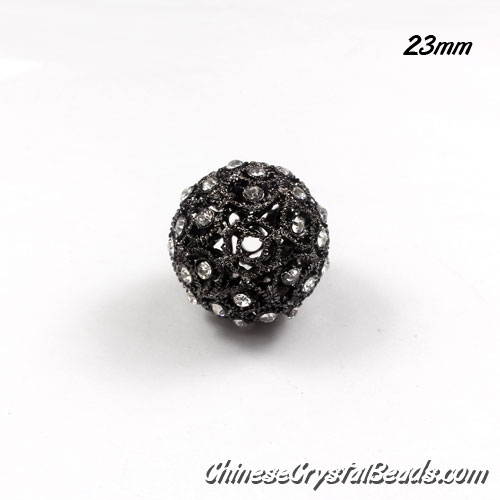 black ball (copper) Rhinestone 23mm, hole 3mm