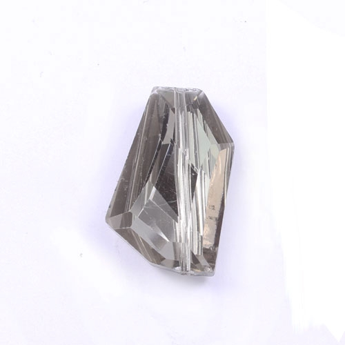 crystal pendant black diamond Square 28x18mm, 10 picese