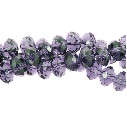 Chinese Crystal Rondelle Strand, 8x10mm, violet, 25 beads