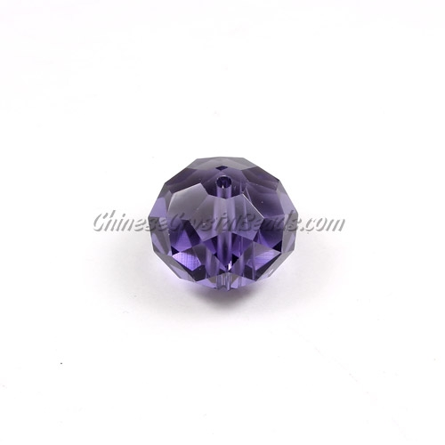 Chinese Crystal Rondelle Beads, violet, 14x18mm ,10 beads