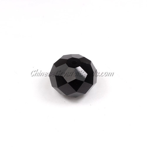 Chinese Crystal Rondelle Beads, black, 14x18mm ,10 beads