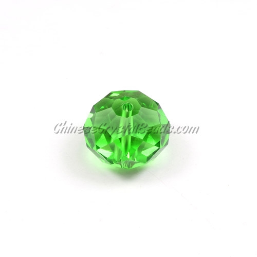 Chinese Crystal Rondelle Beads, fern green, 14x18mm ,10 beads