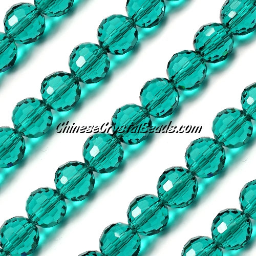 Round crystal beads, 10mm, indicolite, (96fa), 20 pieces