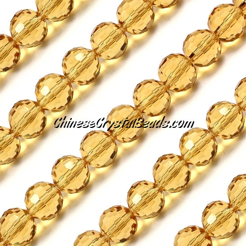 Round crystal beads, 10mm, G. champagne, (96fa), 20 pieces