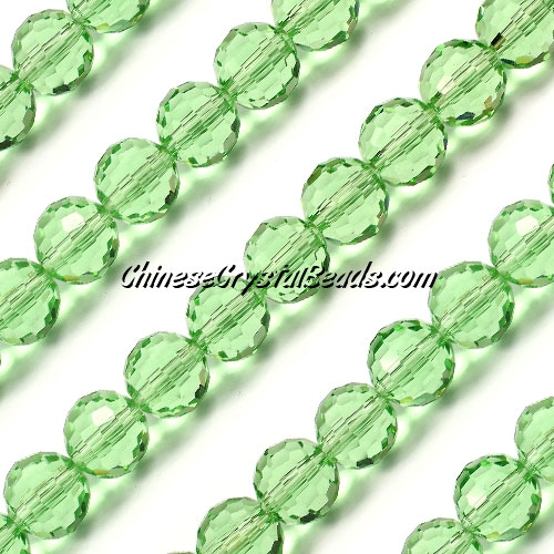 Round crystal beads, 10mm, lime green, (96fa), 20 pieces