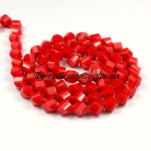 Crystal Helix Beads Strand, 6mm, red velet, about 50 beads