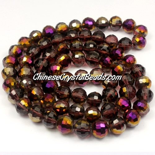 Crystal Round beads strand, 8mm, Amethyst purple light, 96fa,25 beads