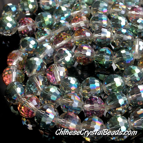 Chinese crystal 10mm round beads 96fa , plum green, sold 20 Beads