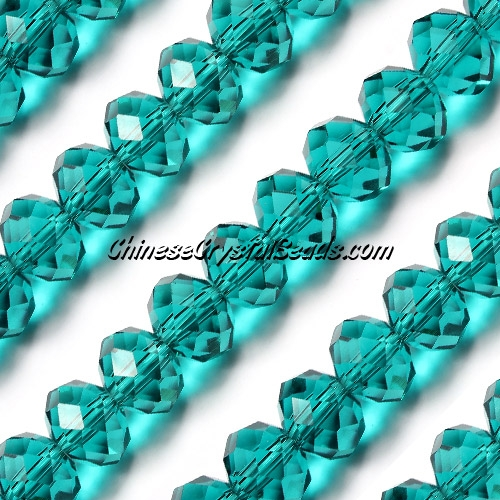 70Pcs 8x10mm Chinese Crystal Rondelle Bead Strand, indicolite