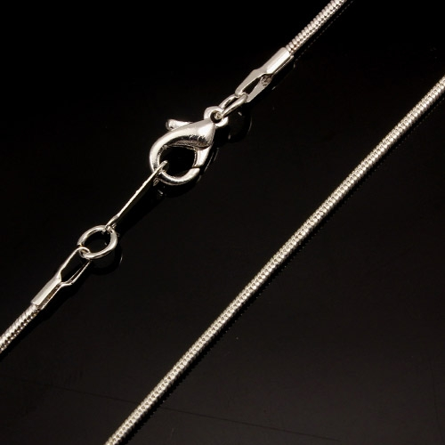 Chain, silver-plated steel, 1.5mm, 16-inch. Sold individually. #004