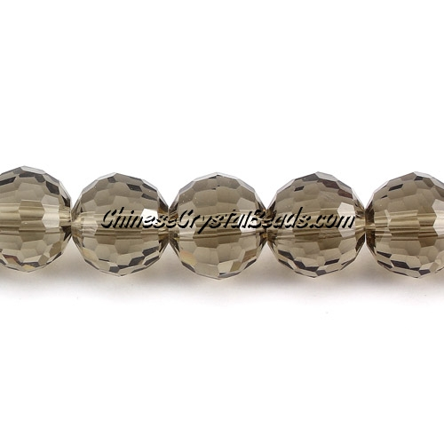Crystal Disco Crystal Round Beads, Smoke, 96fa, 12mm, 16 beads