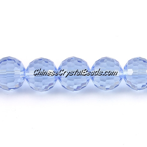 Crystal Disco Round Beads, Lt. Sapphire, 96fa, 12mm, 16 beads