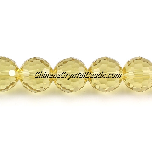 Crystal Disco Round Beads, citrine, 96fa, 12mm, 16 beads