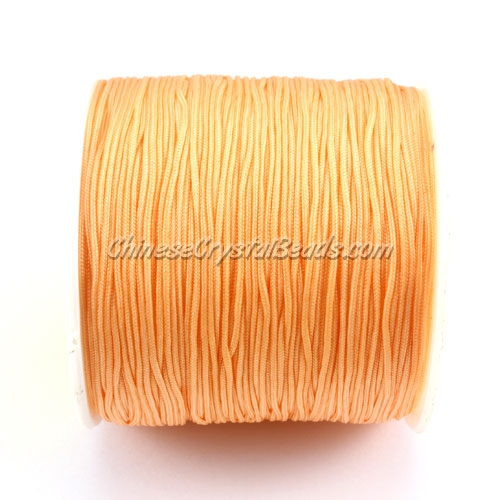 Nylon Thread 0.8mm Apricot , sold per 100 meter bobbin