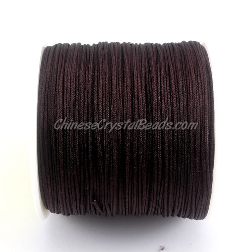 Nylon Thread 0.8mm brown, sold per 100 meter bobbin