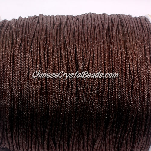 1.5mm nylon cord, brown(738), Pave string unite, (Sold by the meter)