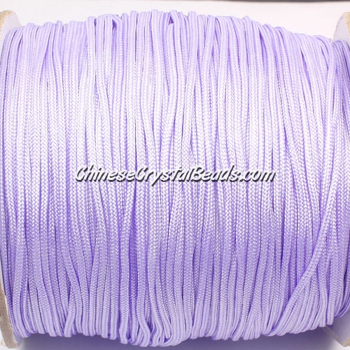 1.5mm nylon cord, light violet(672), Pave string unite, (Sold by the meter)