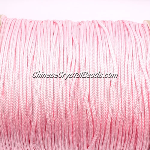 1.5mm nylon cord, pink, Pave string unite, (Sold by the meter)