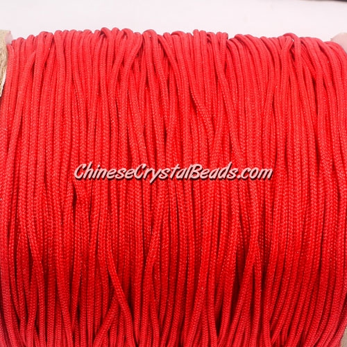 1.5mm nylon cord, red(700), Pave string unite, (Sold by the meter)
