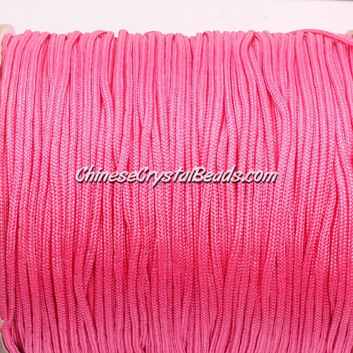 1.5mm nylon cord, rose, Pave string unite, (Sold by the meter)