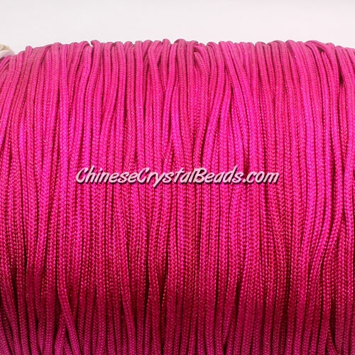 1.5mm nylon cord, ruby(129), Pave string unite, (Sold by the meter)