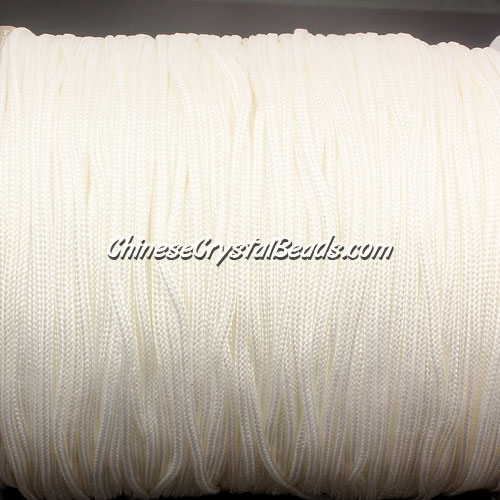 1.5mm nylon cord, white(800), Pave string unite, (Sold by the meter)