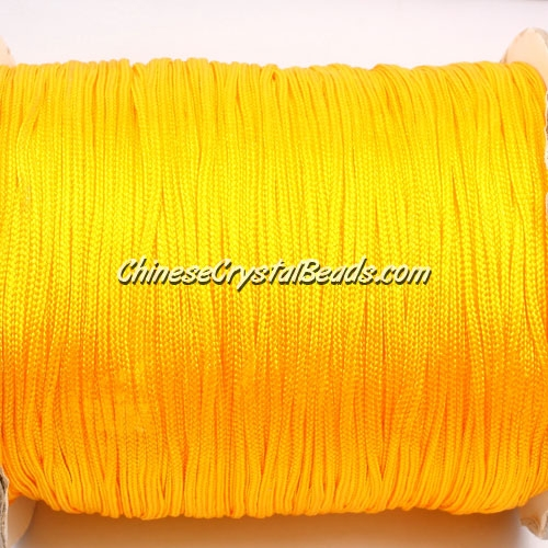 1.5mm nylon cord, yellow, Pave string unite, (Sold by the meter)
