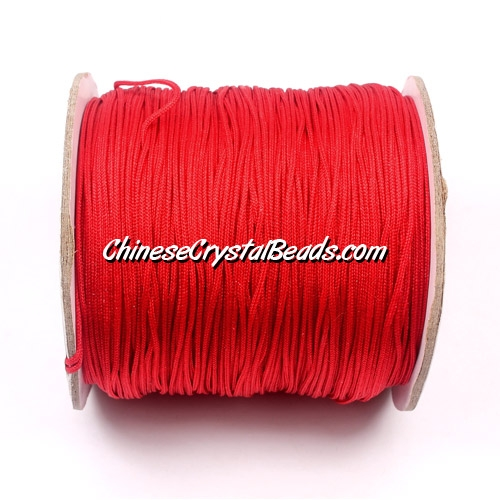Nylon Thread 0.8mm, #101, red, sold per 130 meter bobbin