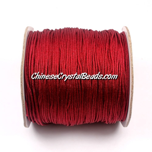 Nylon Thread 0.8mm, #104, dark red, sold per 130 meter bobbin