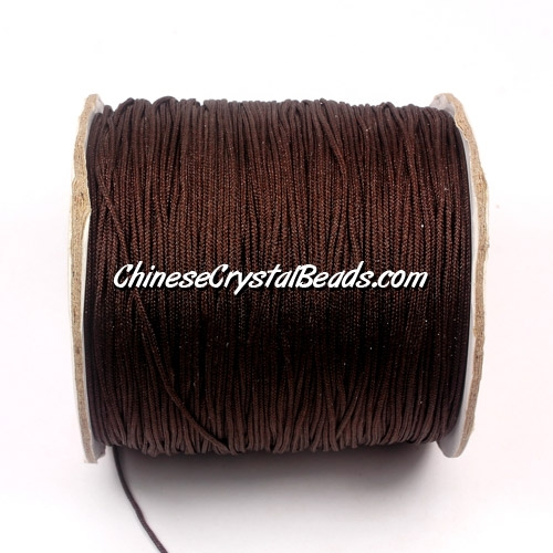 Nylon Thread 0.8mm, #106, brown, sold per 130 meter bobbin