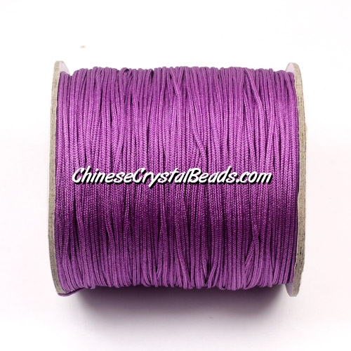 Nylon Thread 0.8mm, #112, Dark Orchid, sold per 130 meter bobbin