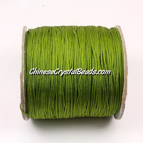 Nylon Thread 0.8mm, #125, olivine, sold per 130 meter bobbin