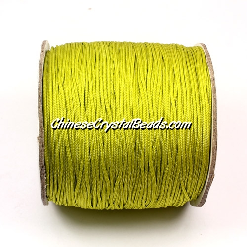 Nylon Thread 0.8mm, #128, Light Lime, sold per 130 meter bobbin