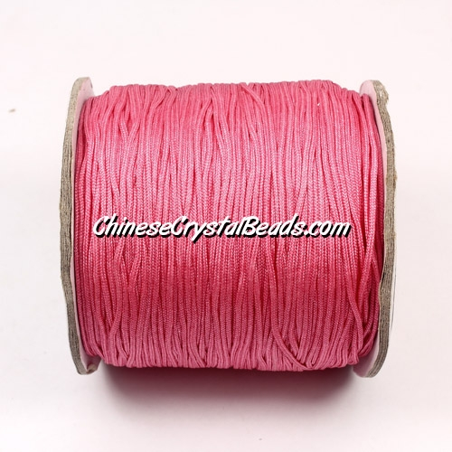 Nylon Thread 0.8mm, #131, Rose Pink, sold per 130 meter bobbin